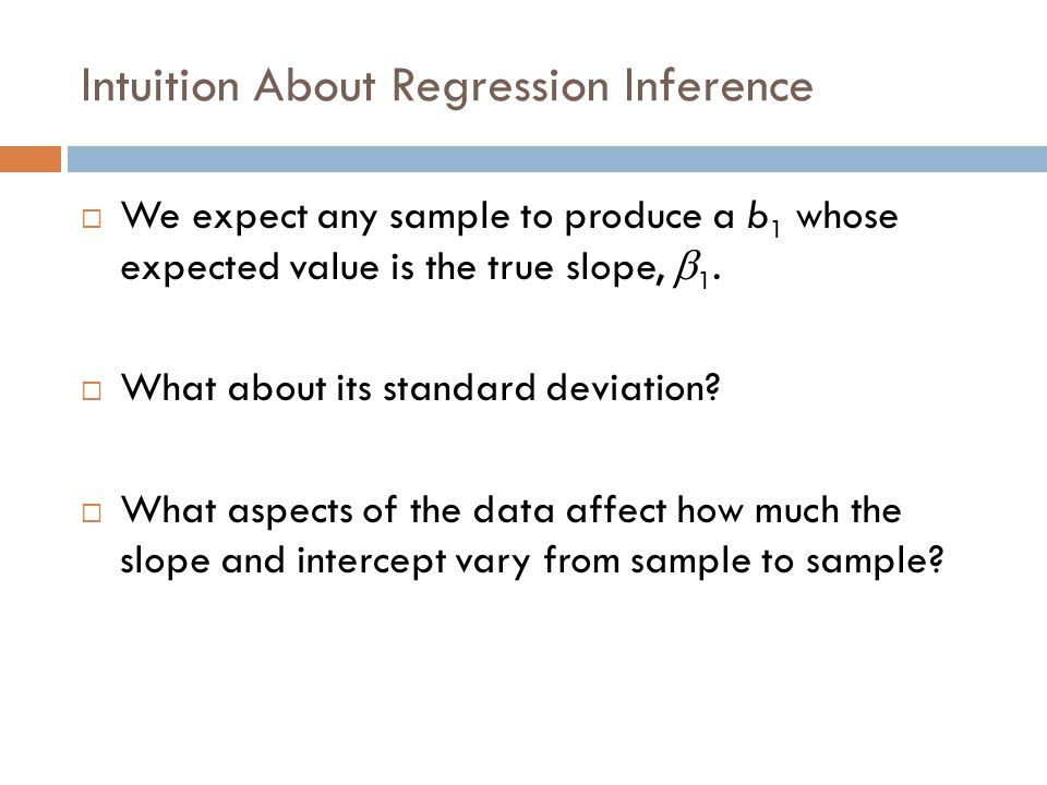 Intuition About Regression Inference