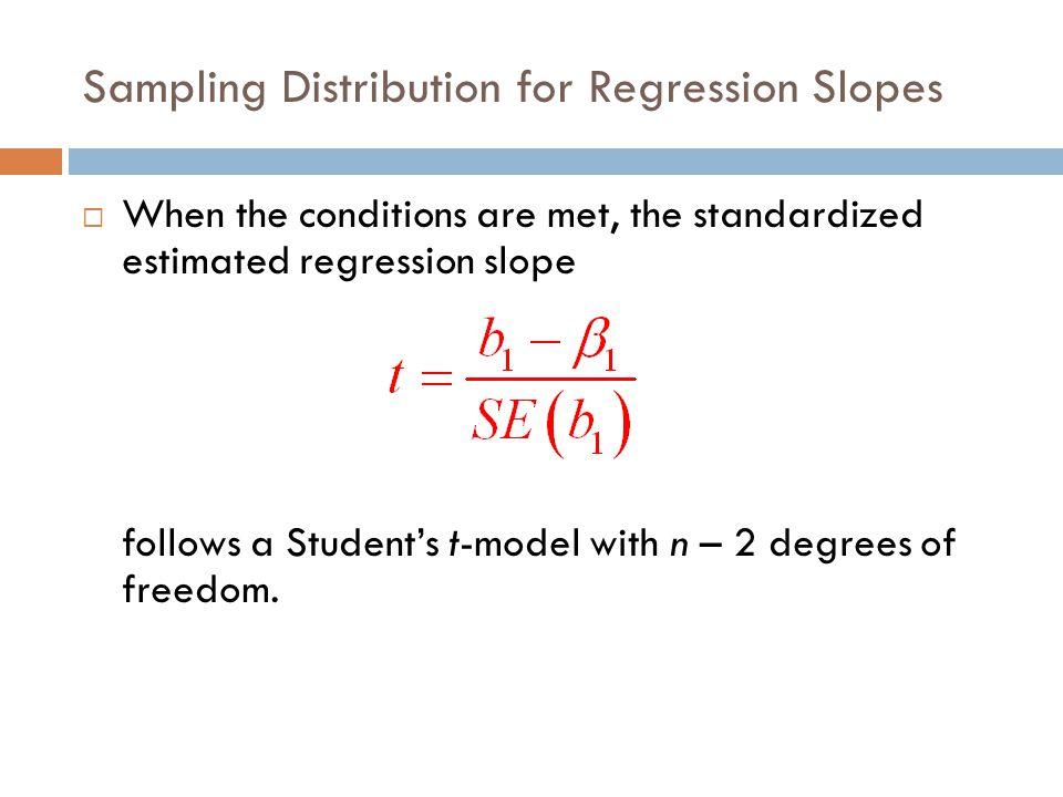 Sampling Distribution for Regression Slopes