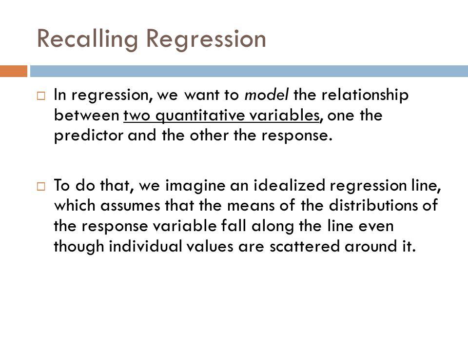 Recalling Regression