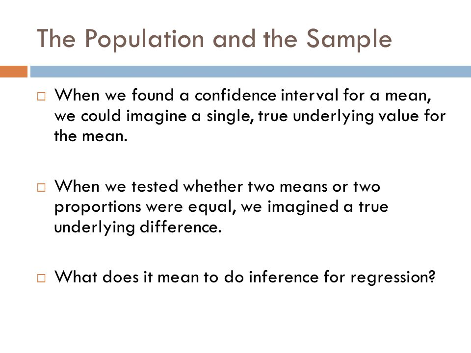 The Population and the Sample