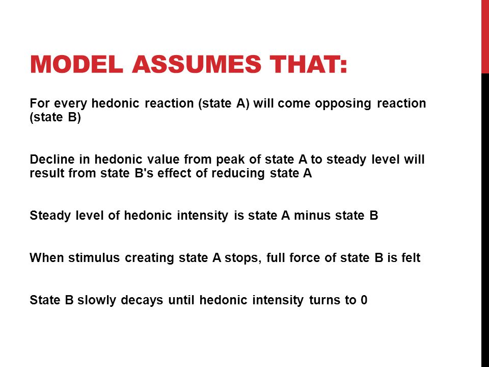 Model Assumes that: