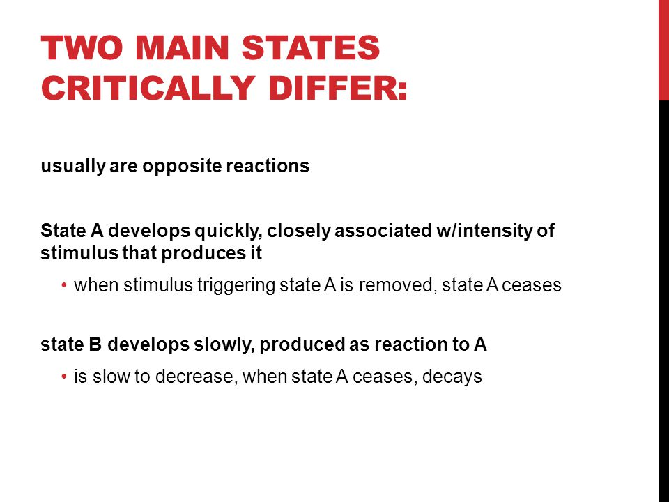 Two main states critically differ: