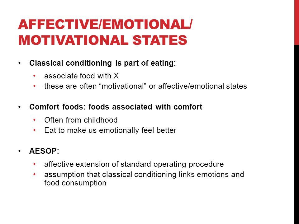 Affective/emotional/motivational states