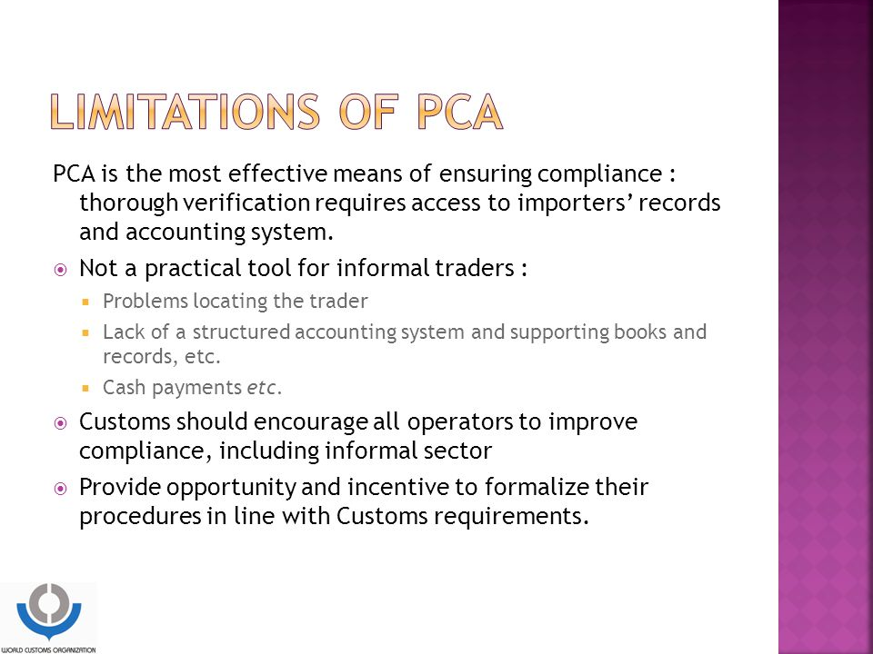 Limitations of PCA