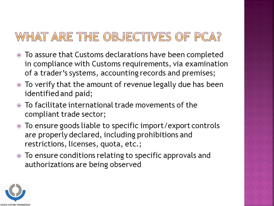 What are the objectives of PCA