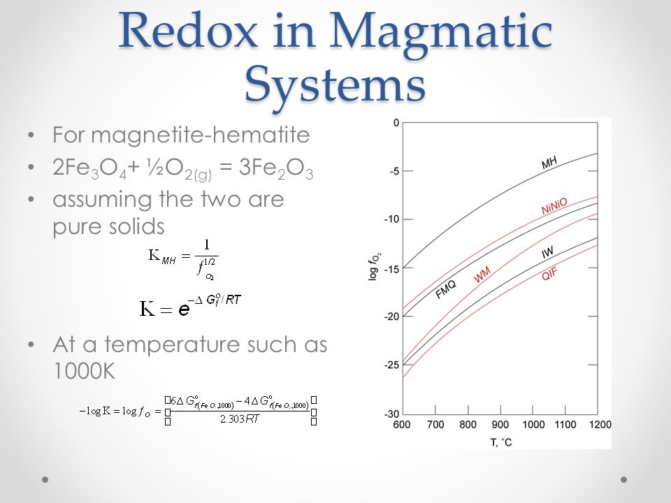 Redox in Magmatic Systems