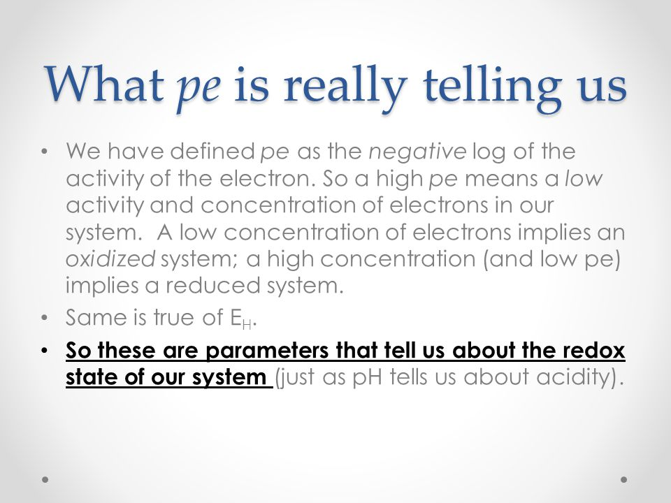 What pe is really telling us