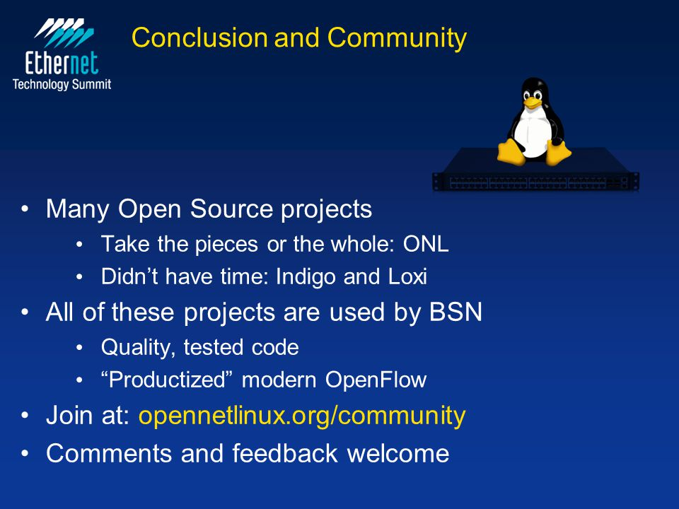 Conclusion and Community