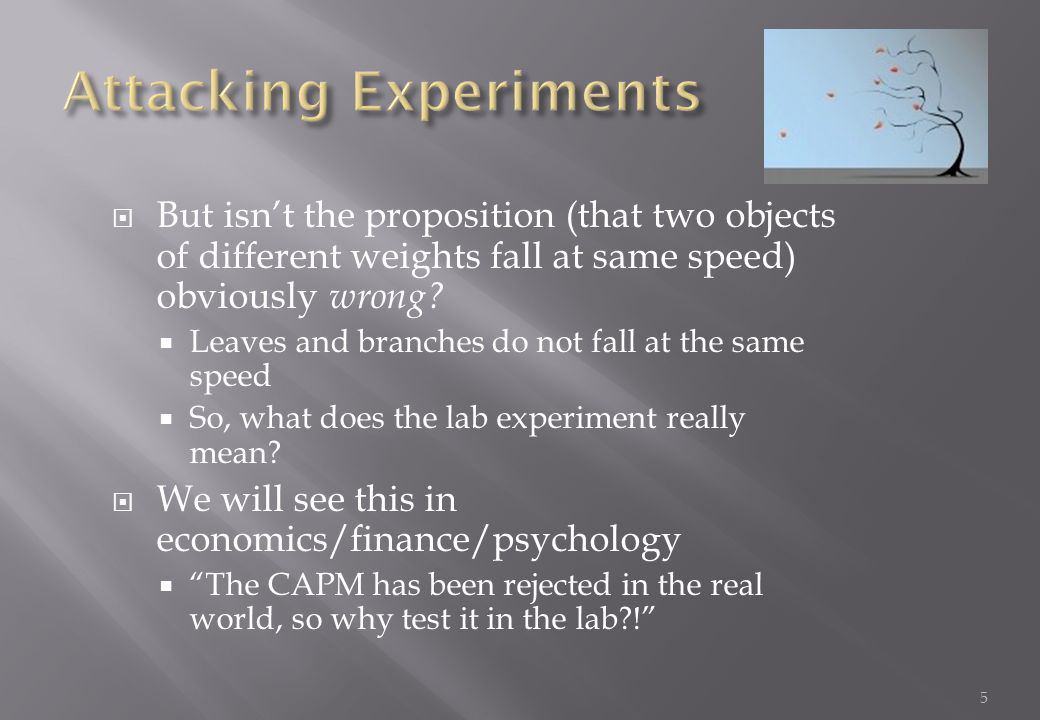Attacking Experiments