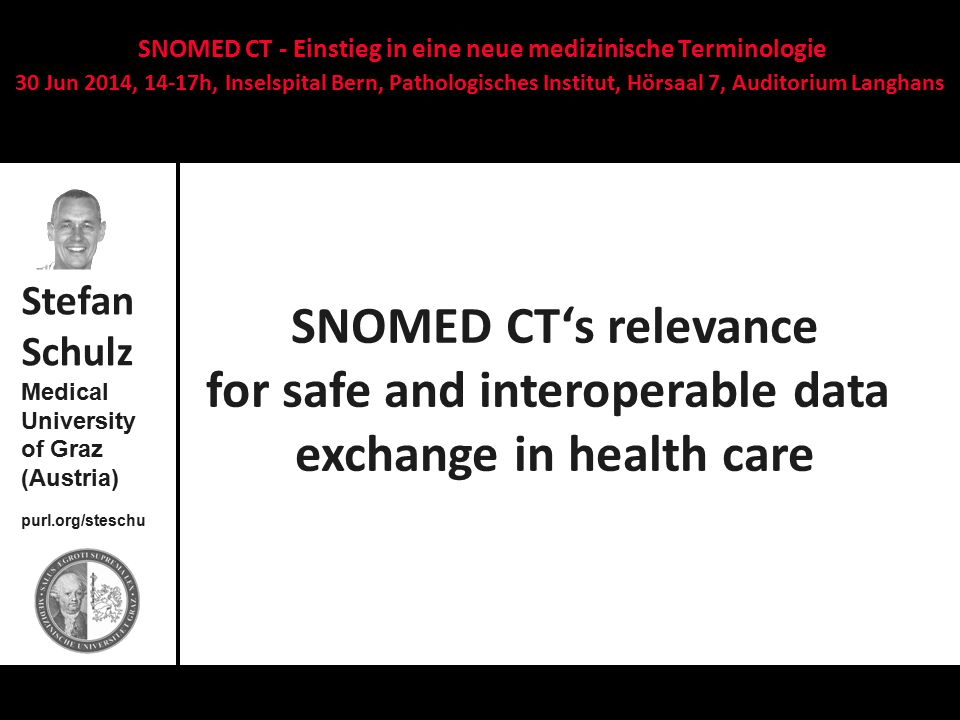 SNOMED CT's relevance for safe and interoperable data