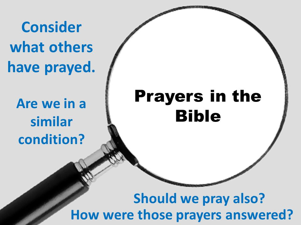 Consider what others have prayed.