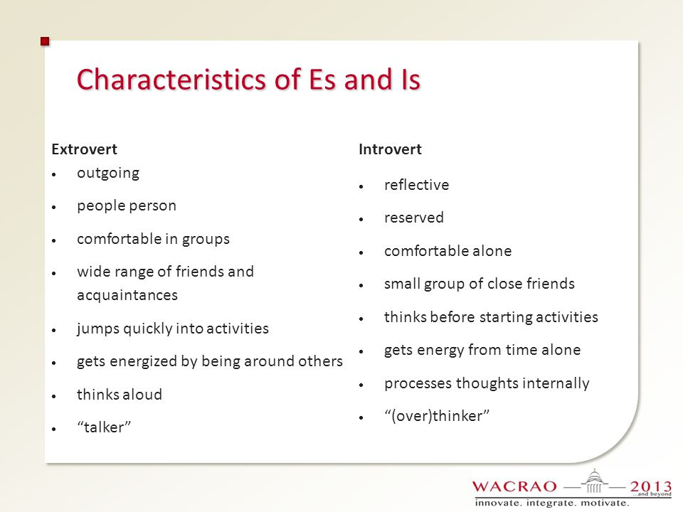 Characteristics of Es and Is