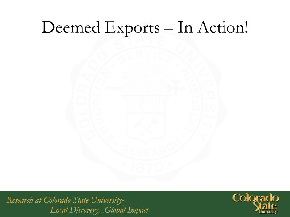 Deemed Exports – In Action!