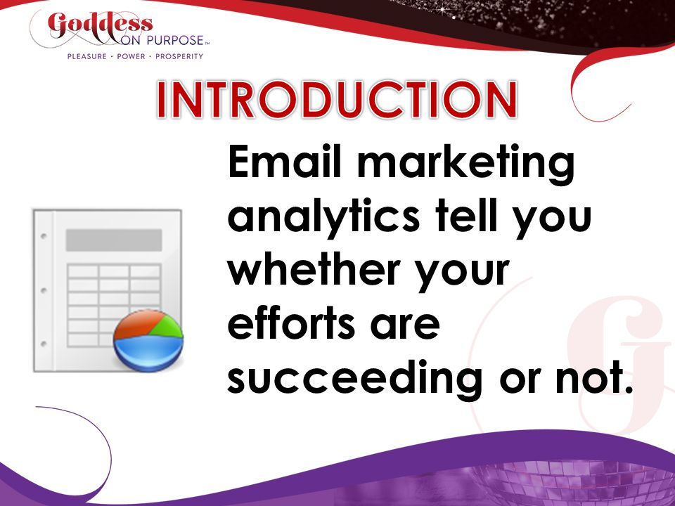 INTRODUCTION Email marketing analytics tell you whether your efforts are succeeding or not.