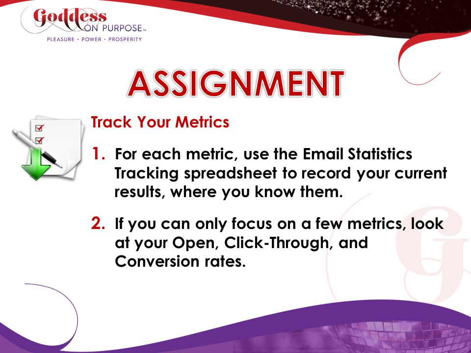 ASSIGNMENT Track Your Metrics