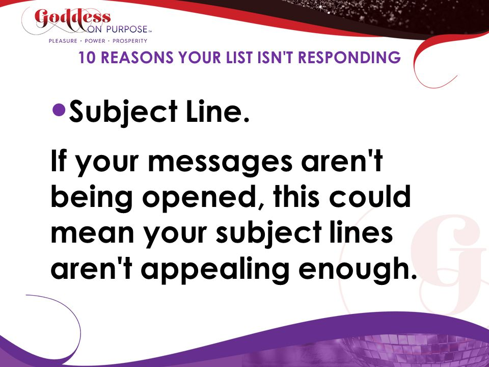 10 REASONS YOUR LIST ISN T RESPONDING