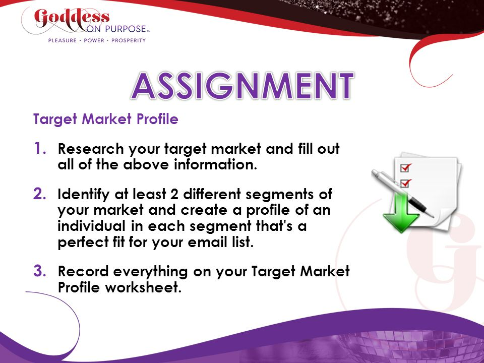 ASSIGNMENT Target Market Profile