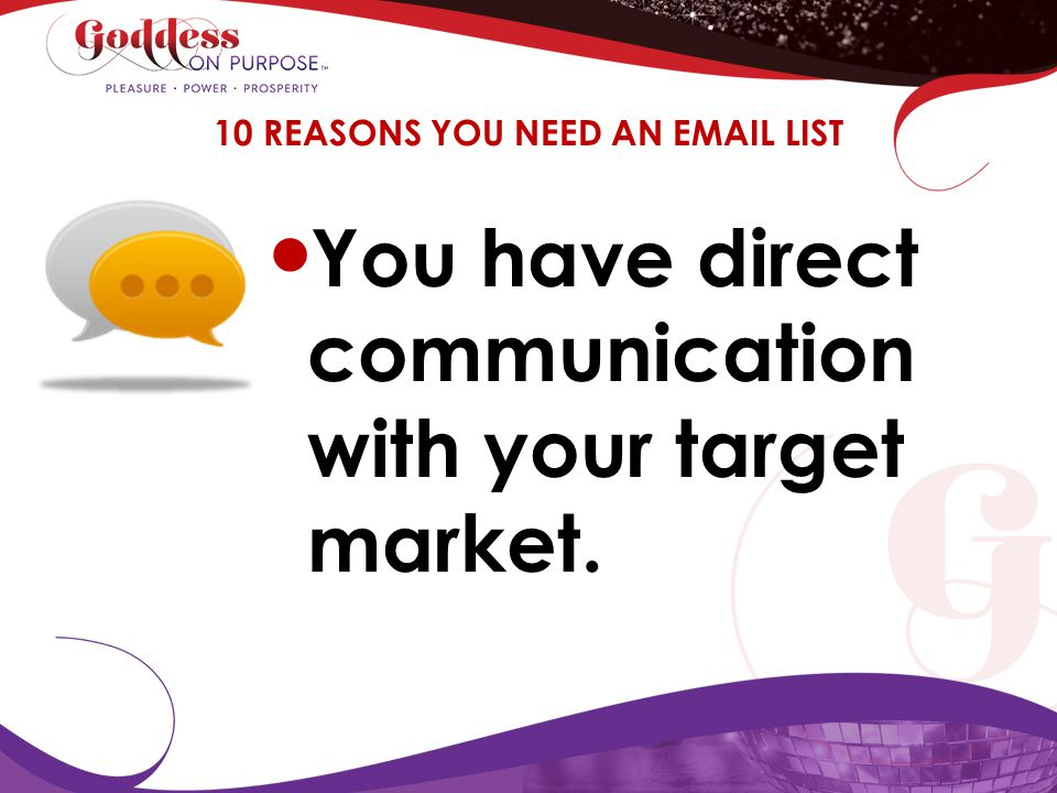 10 REASONS YOU NEED AN EMAIL LIST