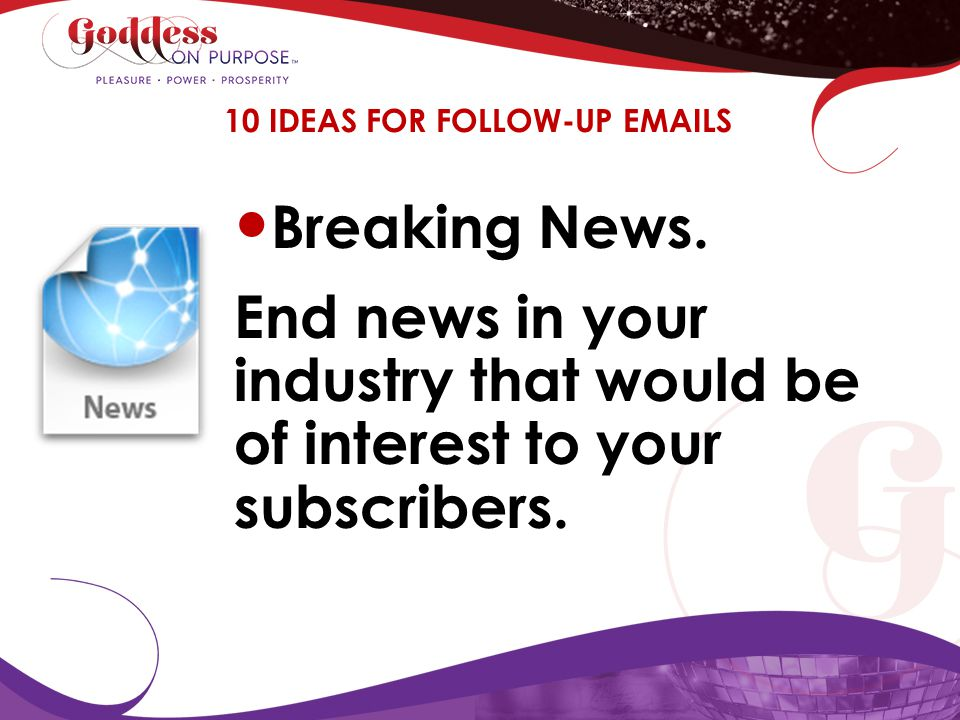 10 IDEAS FOR FOLLOW-UP EMAILS