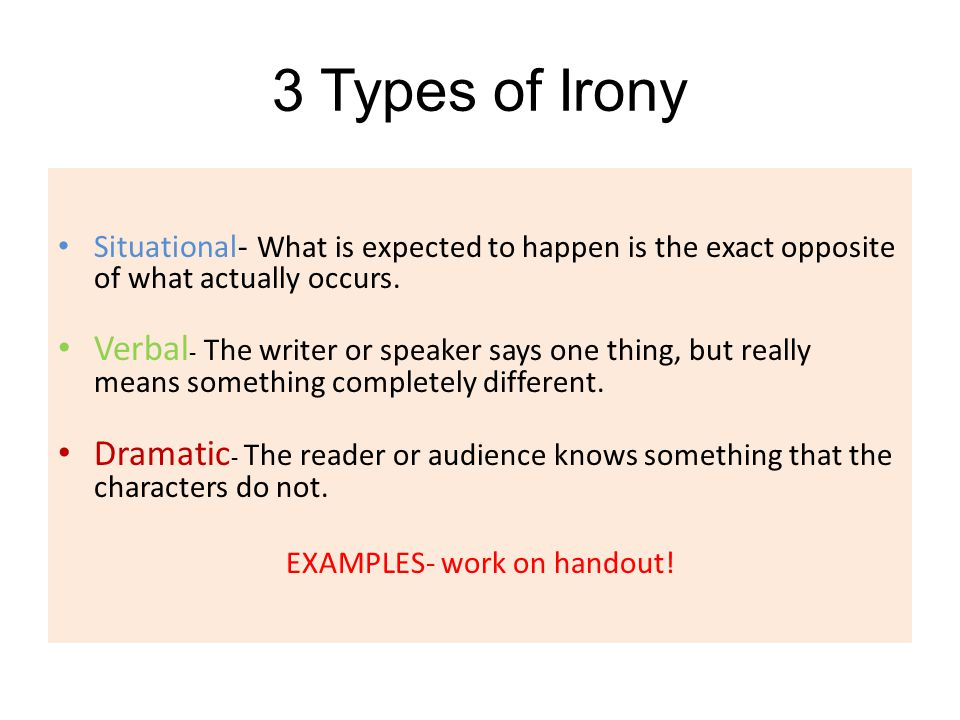 EXAMPLES- work on handout!