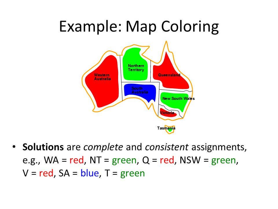 Example: Map Coloring