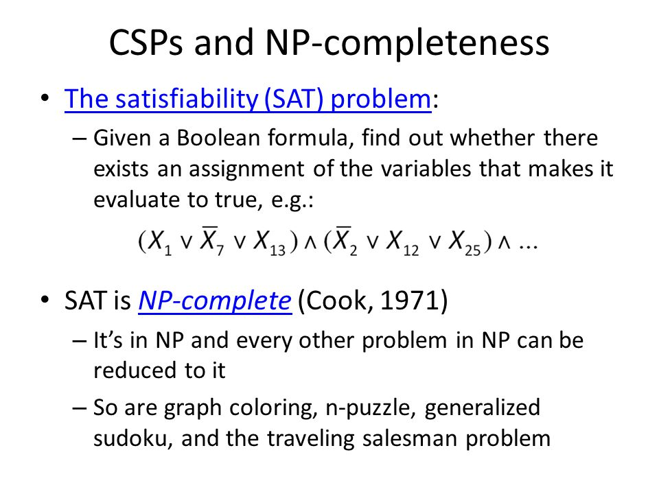 CSPs and NP-completeness