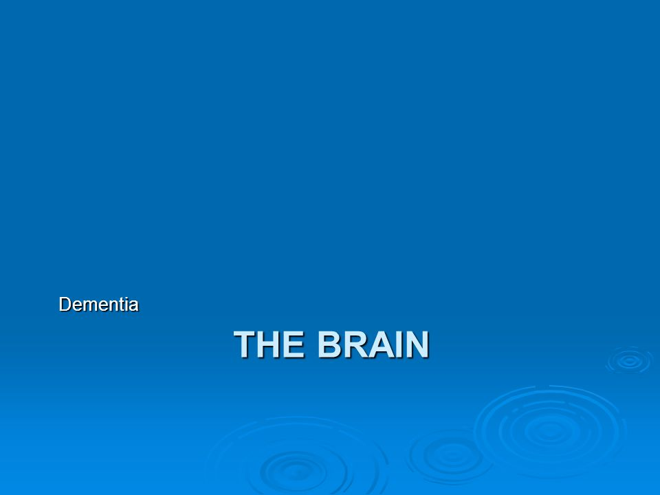 Dementia The Brain