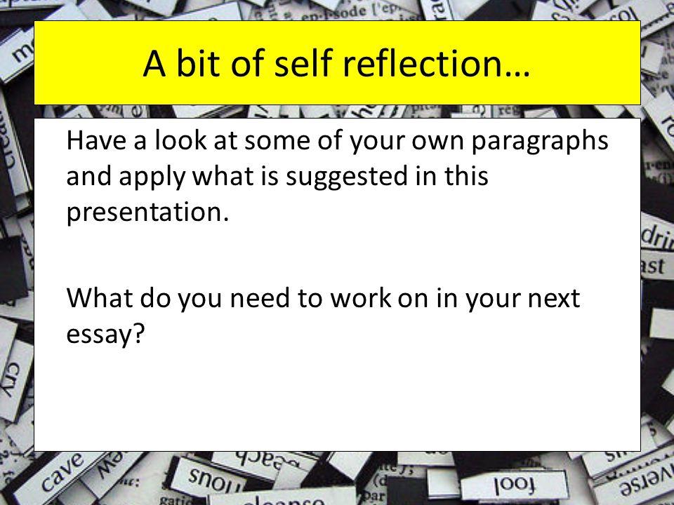 A bit of self reflection…