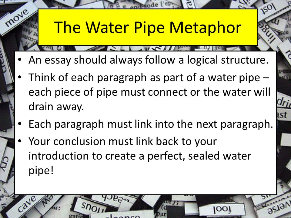 The Water Pipe Metaphor