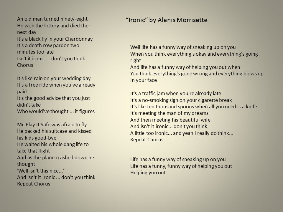 Ironic by Alanis Morrisette