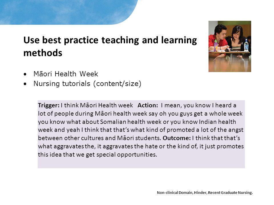 Use best practice teaching and learning methods