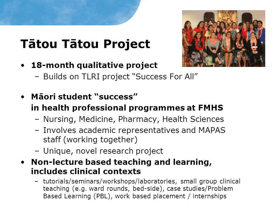 Tātou Tātou Project 18-month qualitative project