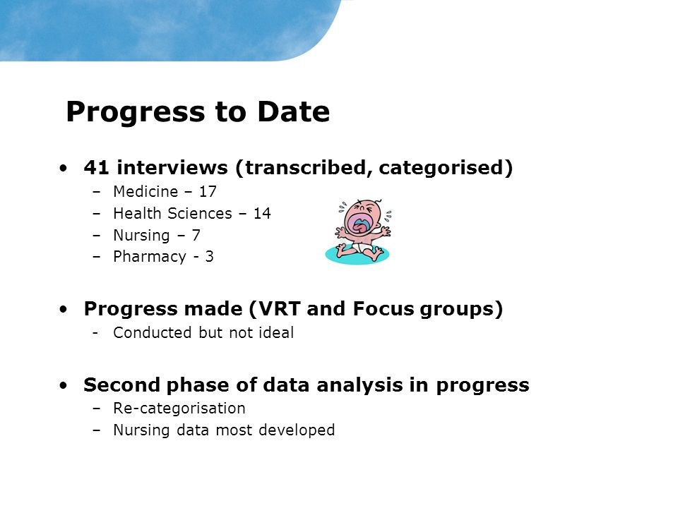 Progress to Date 41 interviews (transcribed, categorised)