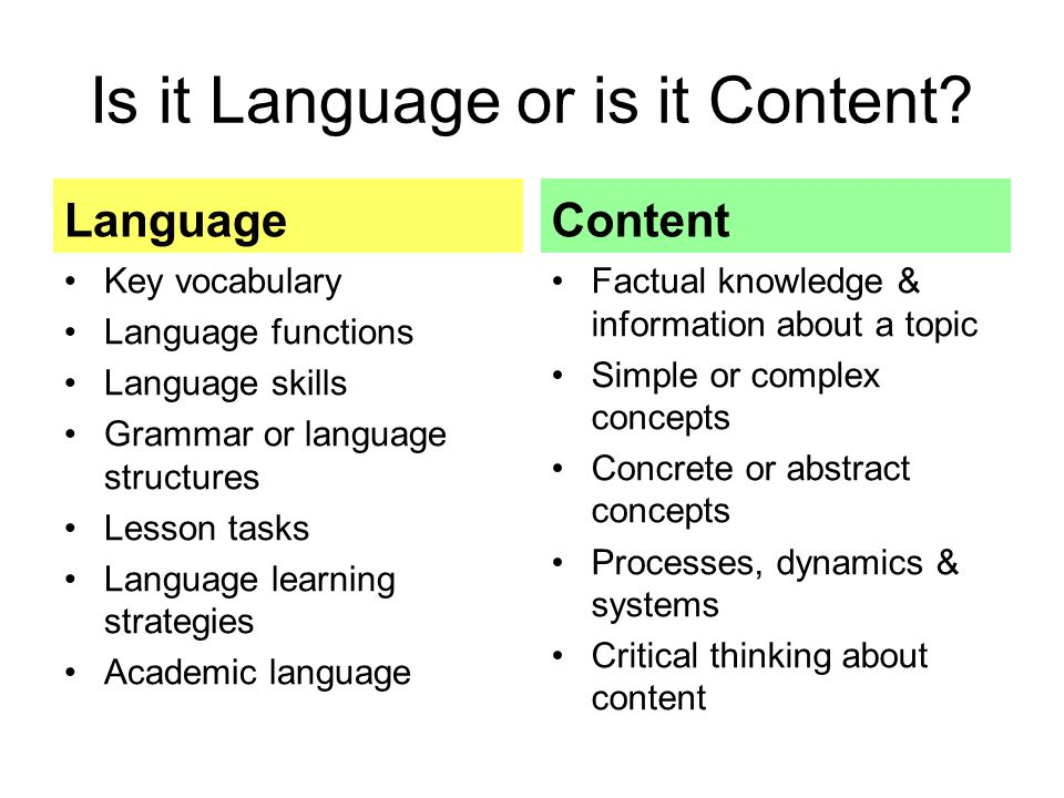 Is it Language or is it Content