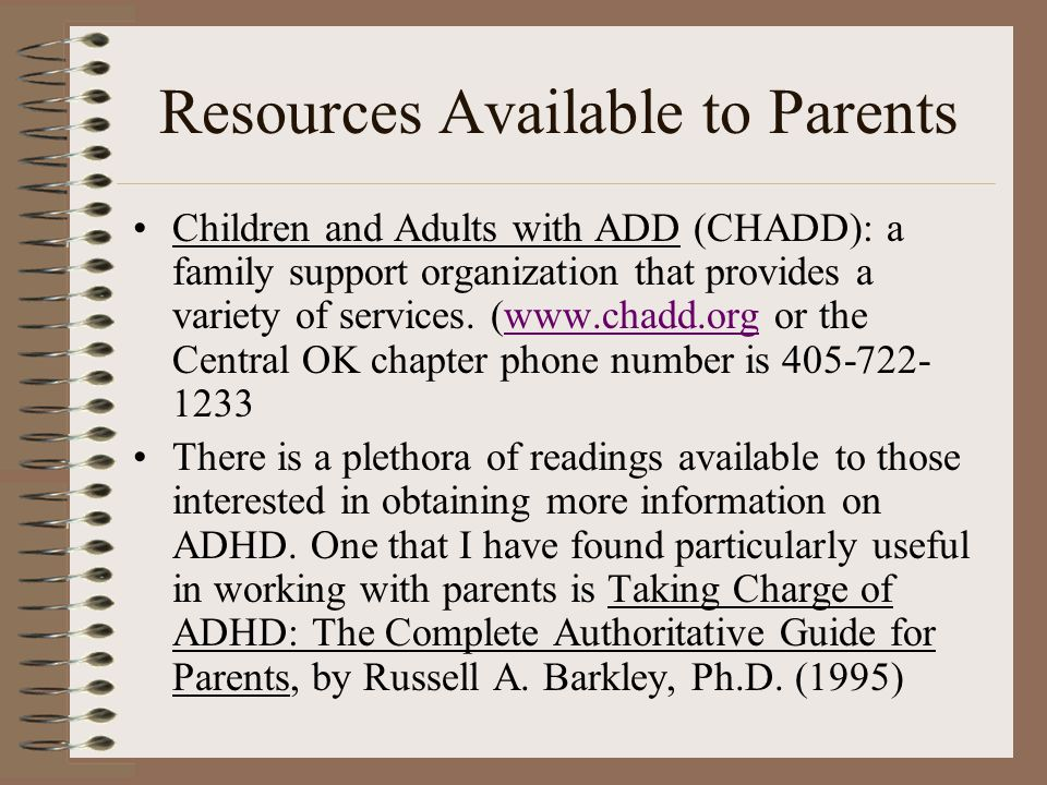 Resources Available to Parents