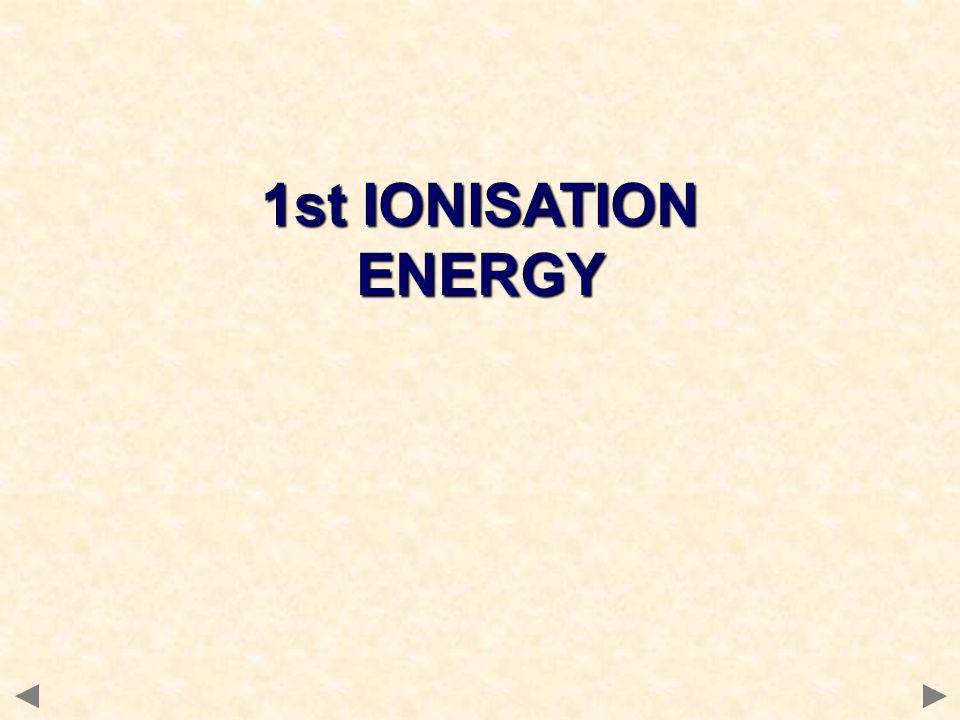 1st IONISATION ENERGY