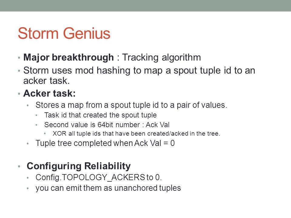 Storm Genius Major breakthrough : Tracking algorithm
