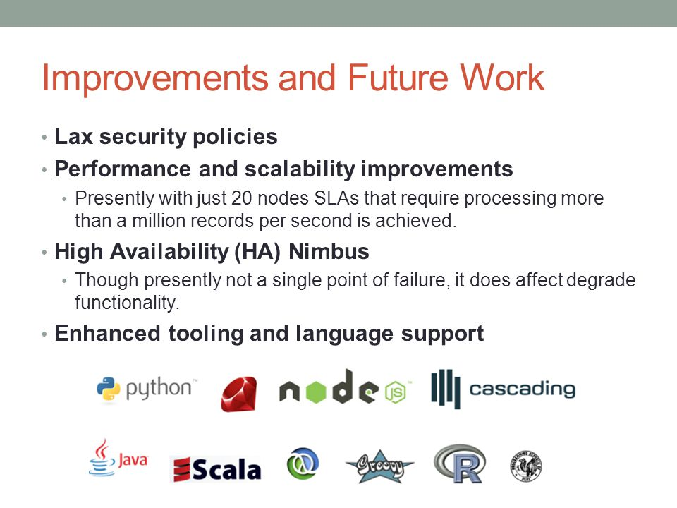 Improvements and Future Work