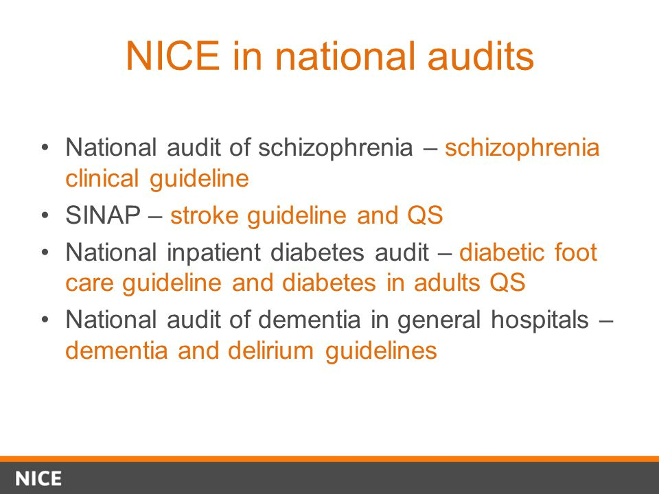 NICE in national audits