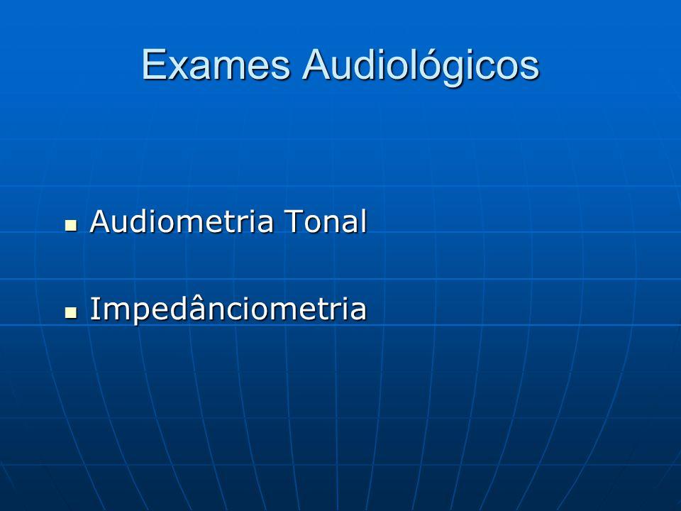 Exames Audiológicos Audiometria Tonal Impedânciometria