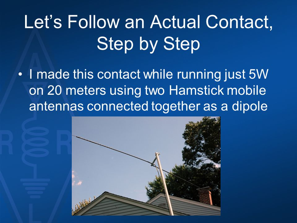 Let's Follow an Actual Contact, Step by Step