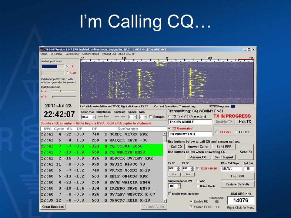 I'm Calling CQ…