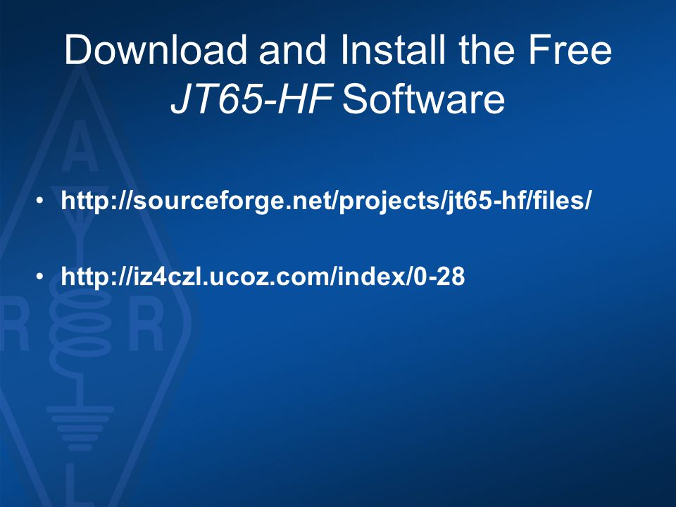 Download and Install the Free JT65-HF Software