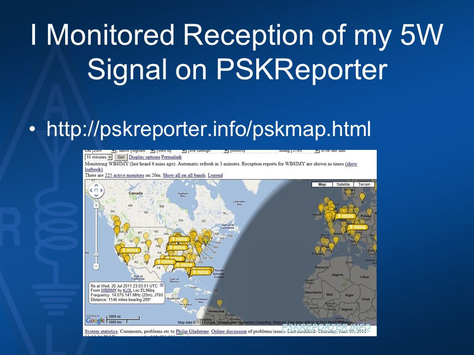 I Monitored Reception of my 5W Signal on PSKReporter