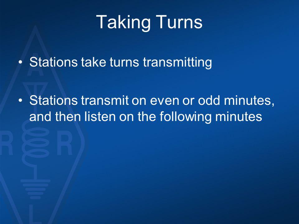 Taking Turns Stations take turns transmitting