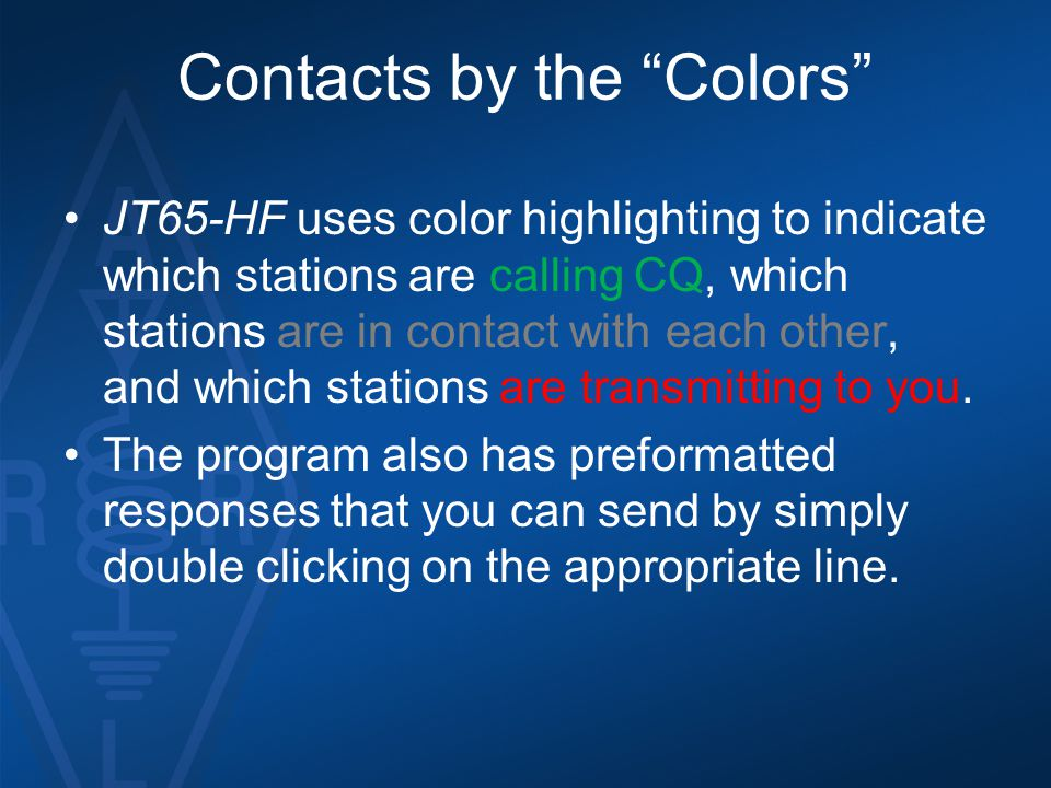 Contacts by the Colors