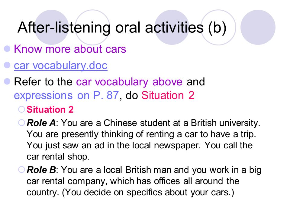 After-listening oral activities (b)