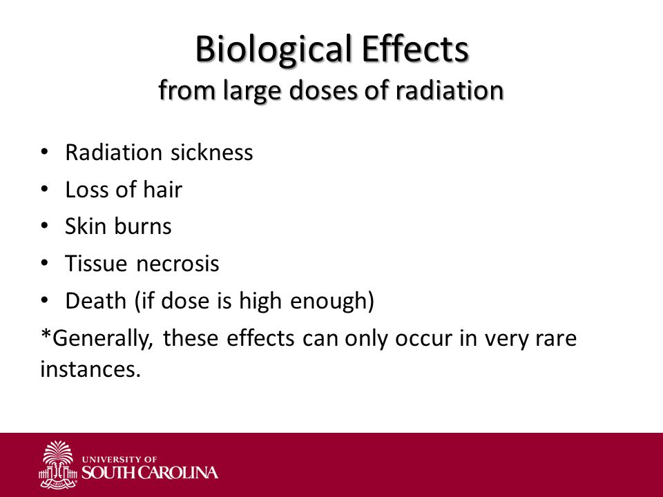 Biological Effects from large doses of radiation