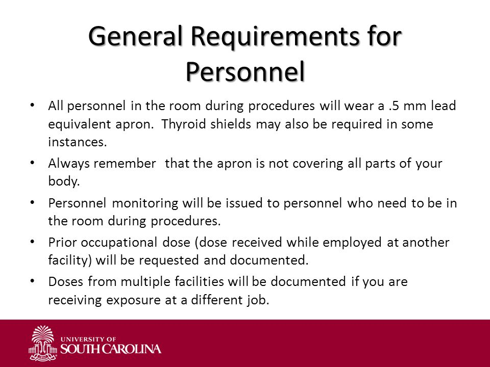 General Requirements for Personnel