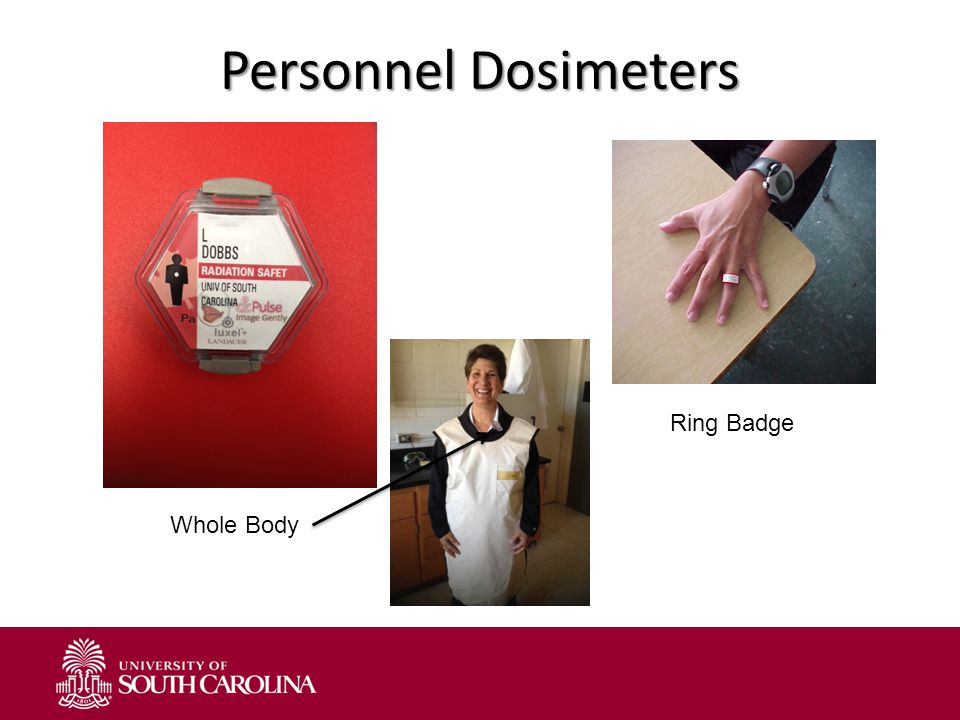 Personnel Dosimeters Ring Badge Whole Body